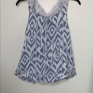 Abercrombie Kids Blue and White Cross-back Tank